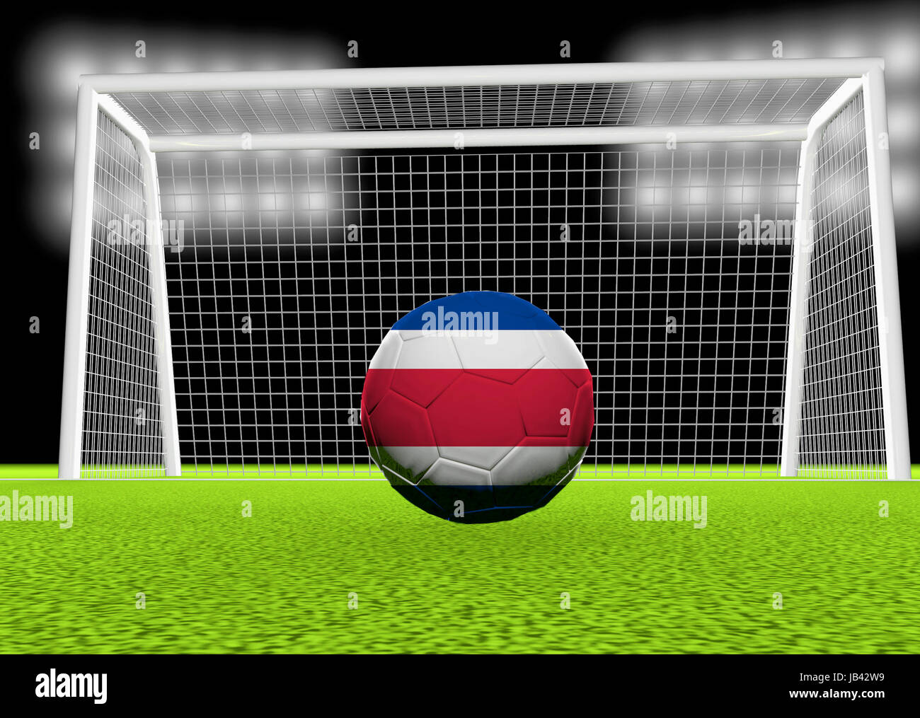 Soccer Ball Flag Costa Rica Imágenes De Stock   Soccer Ball Flag ... 91dde8f60b4e8