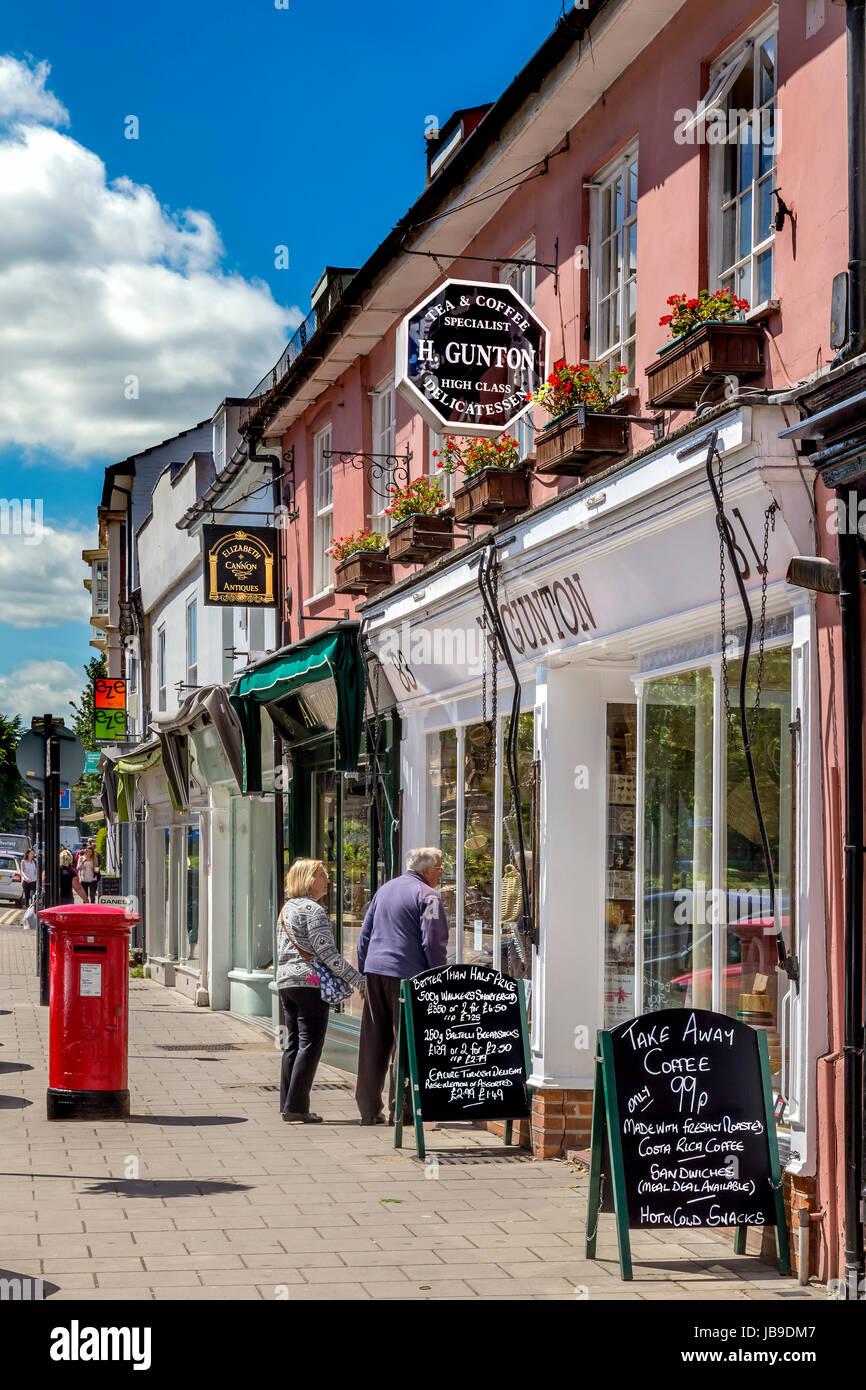 COLCHESTER, BRITAINS más antiguo grabado antiguo, Crouch Street. Imagen De Stock