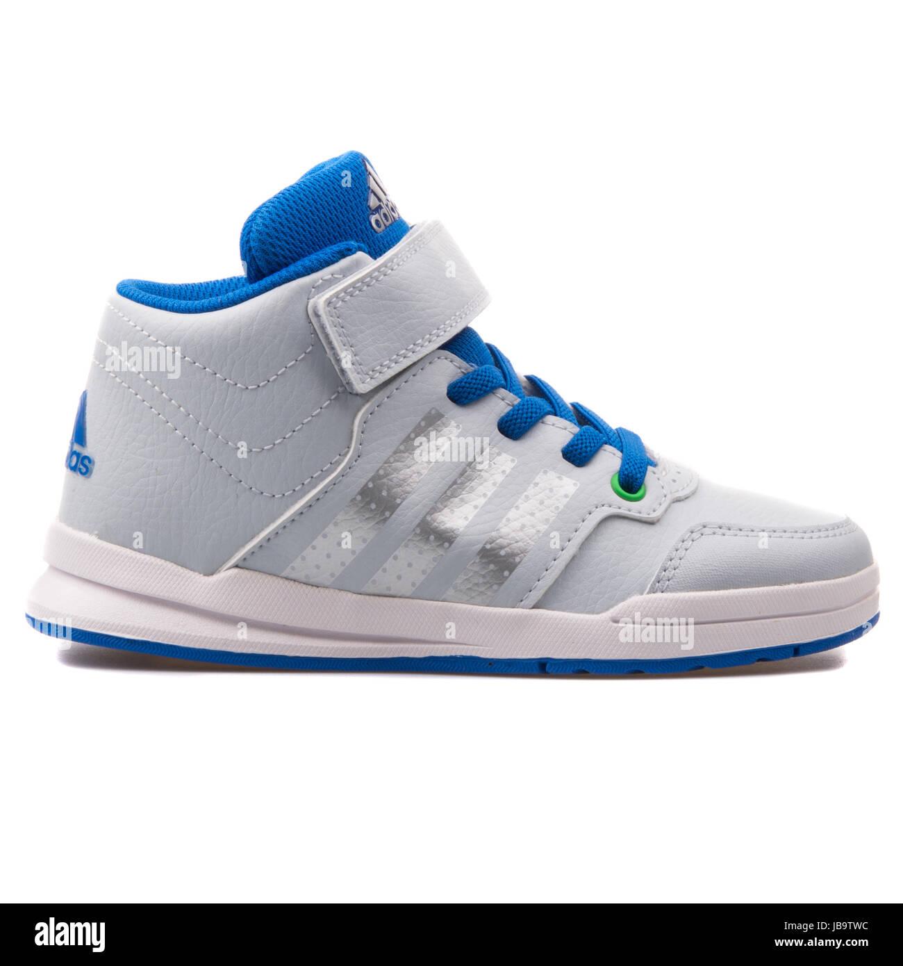 info for 67f05 b57cd Adidas Jan BS 2 mediados C plata y azul para niños zapatillas deportivas -  B23906 Imagen