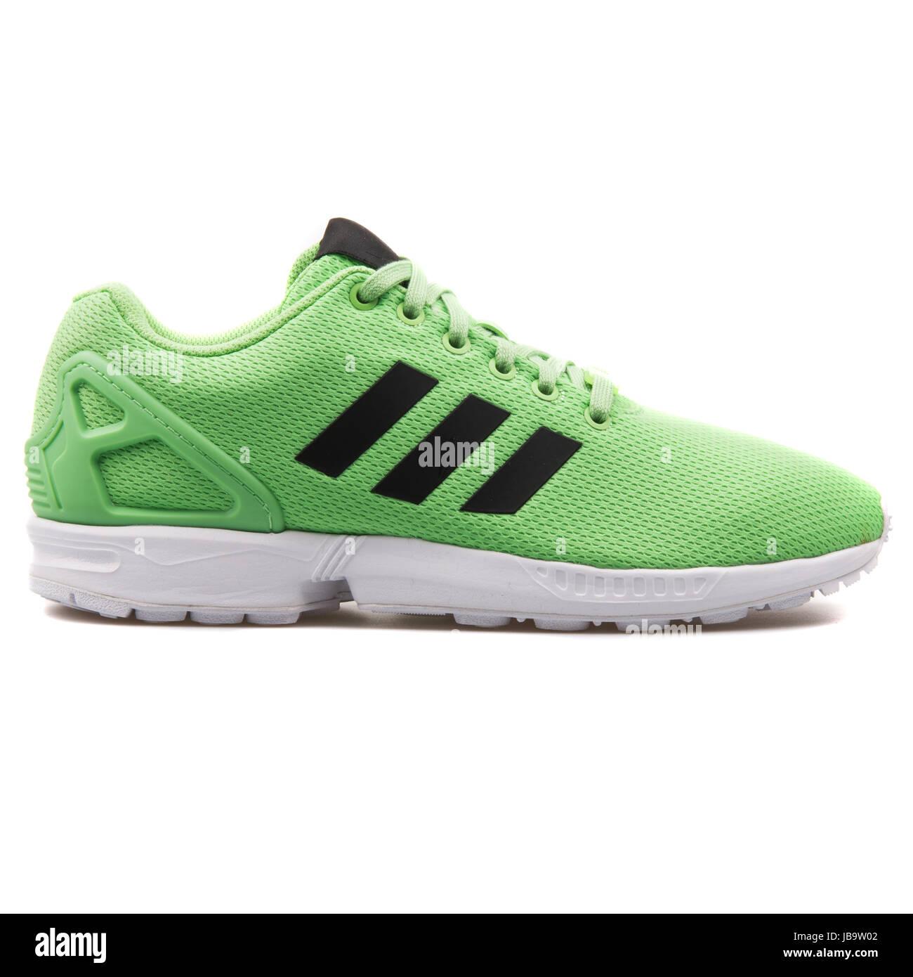 Adidas ZX Flux Blue Men's Running Shoes AF6344 Stock Photo