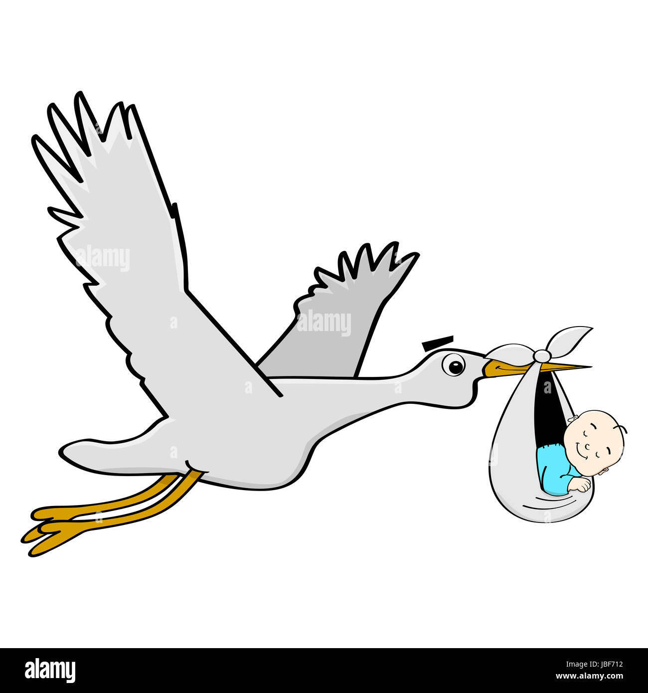 Stork Carrying A Baby Imágenes De Stock & Stork Carrying A Baby ...