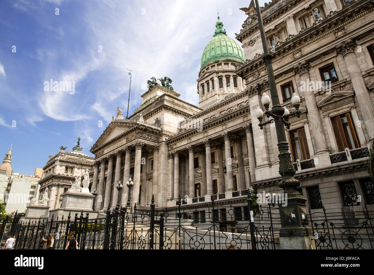 Congreso Nacional en Buenos Aires, Argentina Imagen De Stock