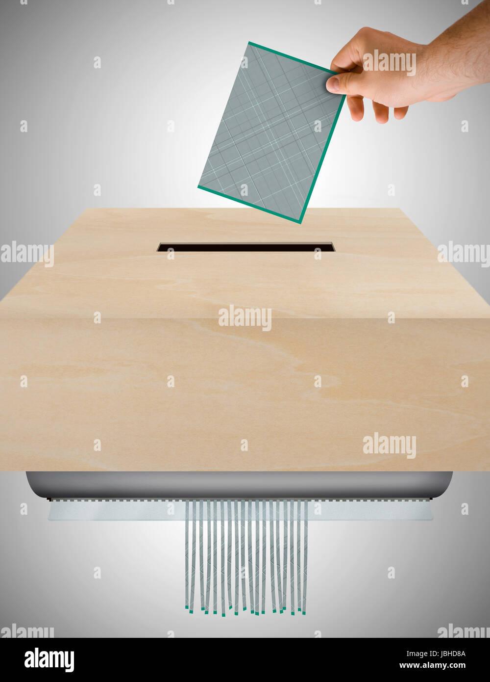 Imagen que representa el concepto de papeletas inútiles Foto de stock