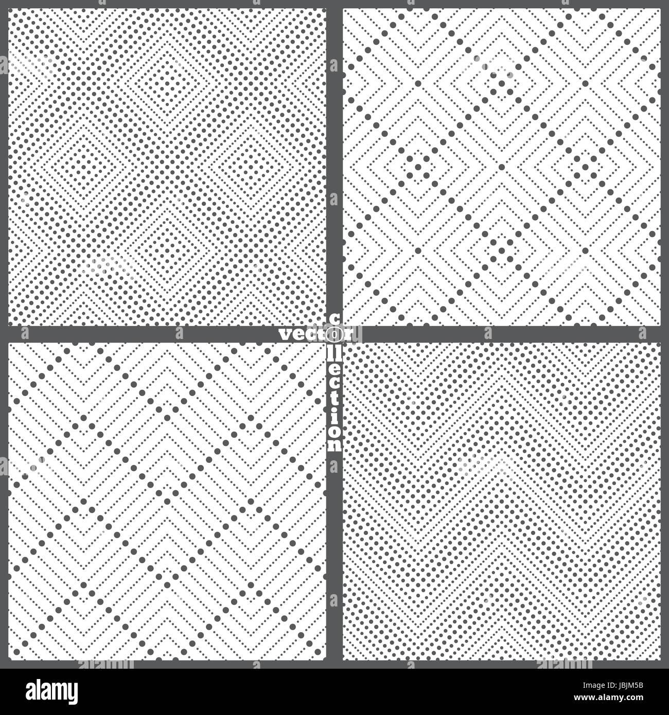 Conjunto de patrones sin fisuras. abstracto. Fondo de encaje moderno ...