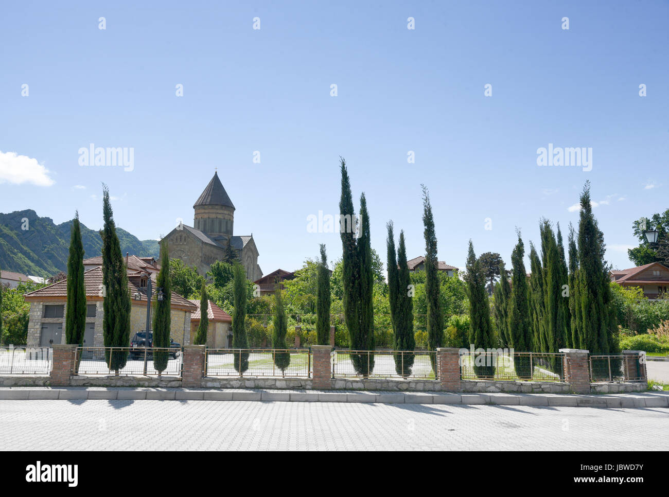 Georgia, Mtskheta, la Catedral de Sveti-Tskhoveli Foto de stock