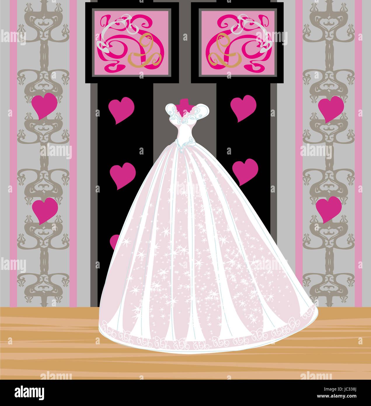 129878fde Vestido De Novia Tienda Vector Imágenes De Stock & Vestido De Novia ...