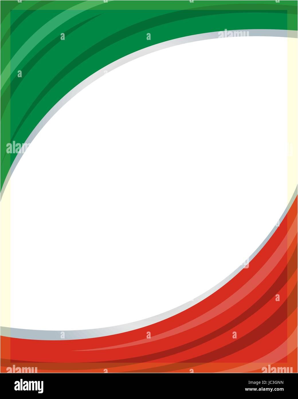 Italia bandera patriótica de onda marco con un espacio vacío para su ...