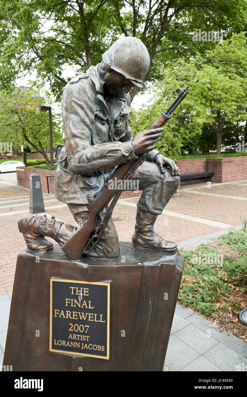 Philadelphia despedida escultura en Korean War Memorial Veterans Memorial Park de EE.UU. Imagen De Stock
