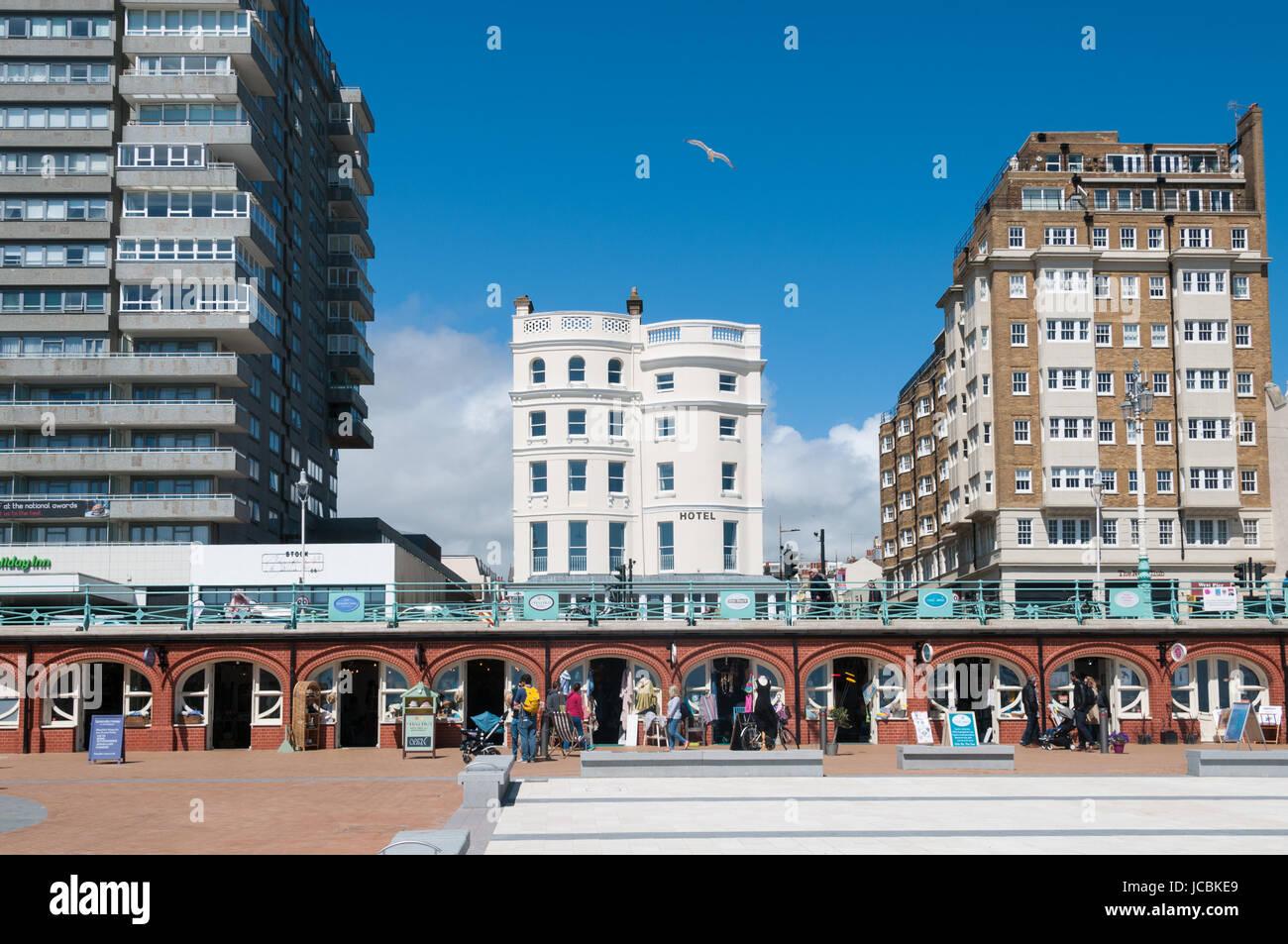 King's Road, arcos, Brighton Seafront, Reino Unido Imagen De Stock