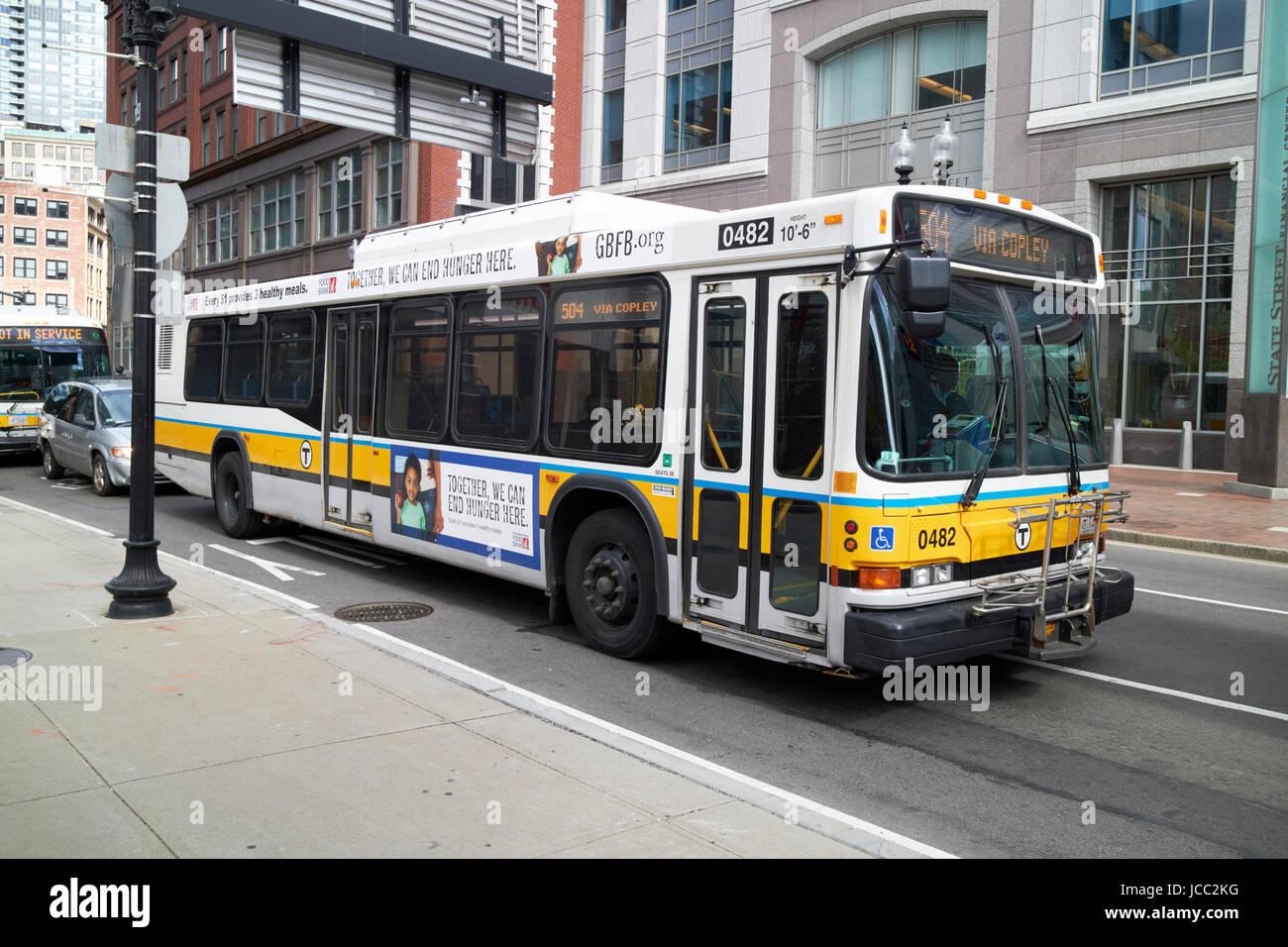 Boston mbta neoplan un autobús diesel lf440EE.UU. Imagen De Stock
