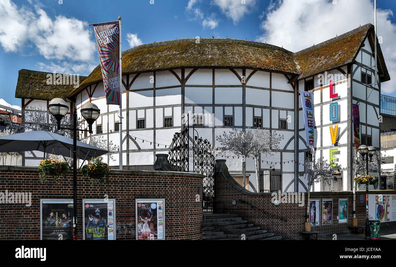 El Shakespeare's Globe Theatre, Londres, Inglaterra, Reino Unido Imagen De Stock