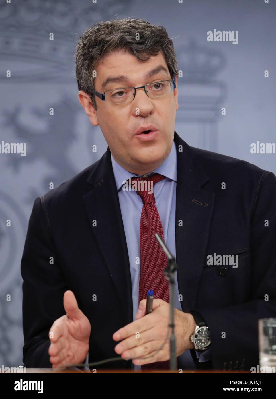 Español de la energía, el turismo y la Agenda Digital, Ministro, Alvaro Nadal, aborda una conferencia Imagen De Stock