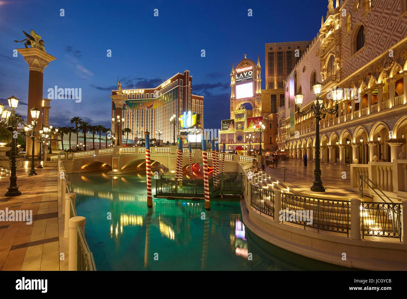 El hotel Venetian en Las Vegas, Nevada, Estados Unidos Imagen De Stock