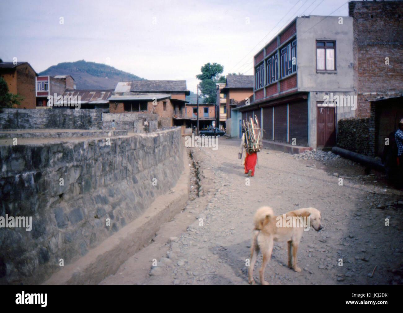 Reportaje de Nepal de 1980. Pokhara Imagen De Stock