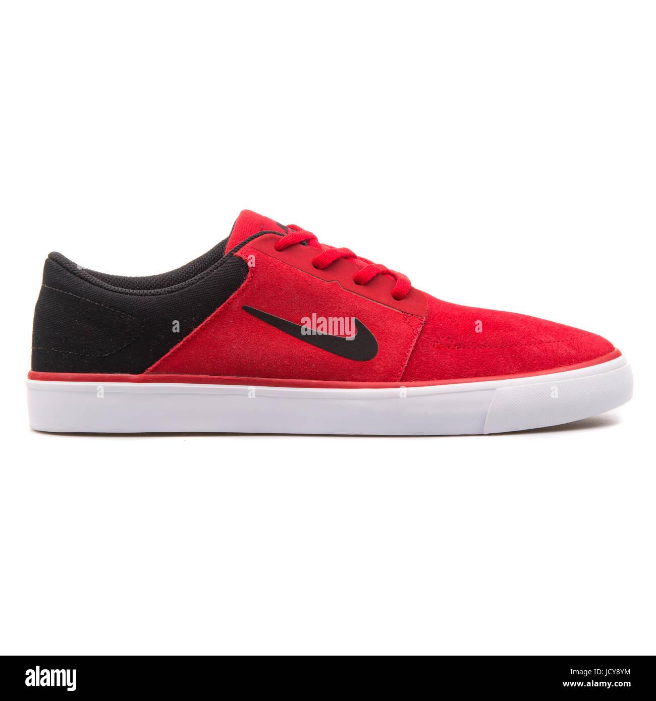 Nike SB Portmore Gimnasio en rojo, blanco y negro para