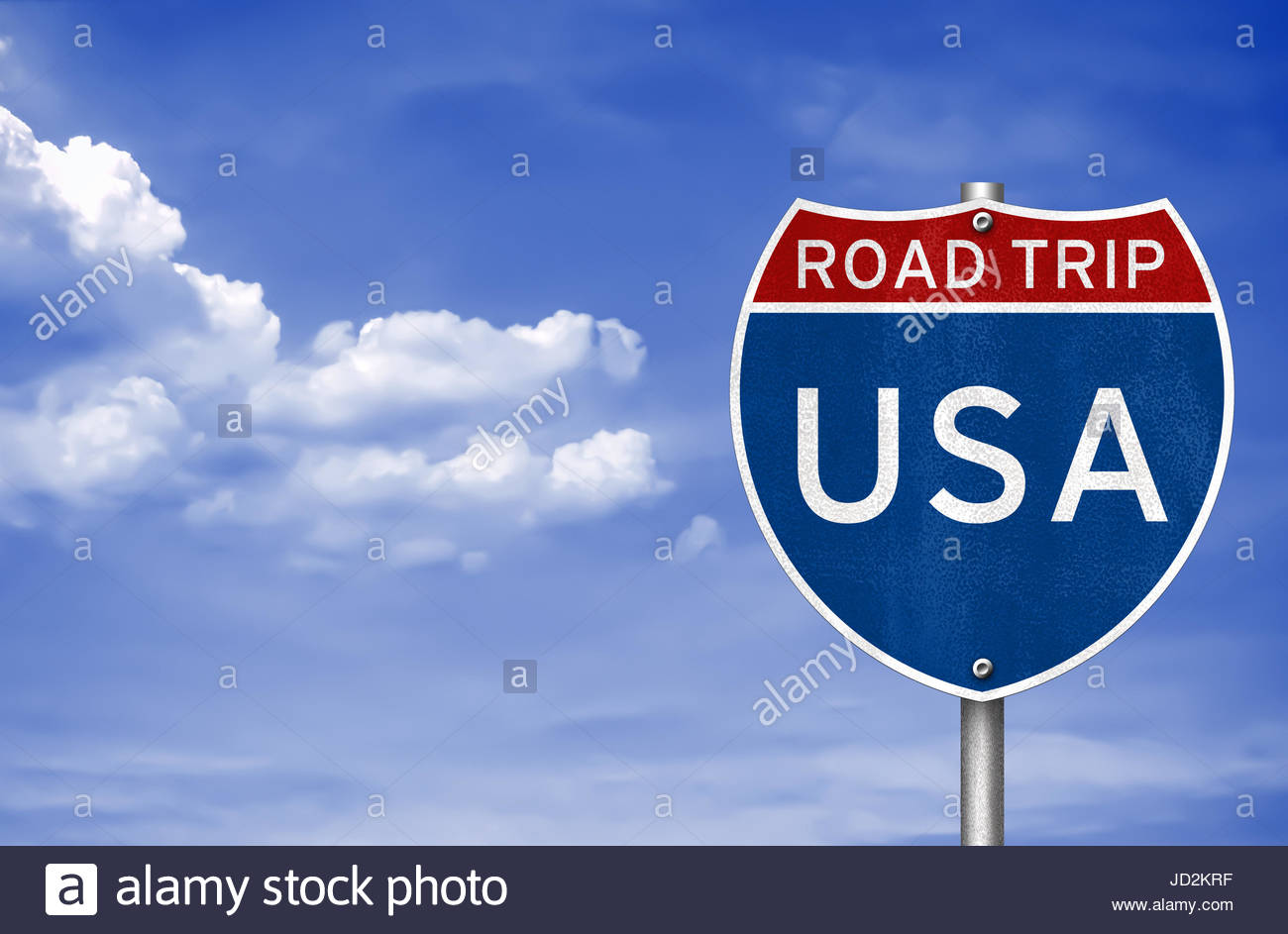 Viaje por carretera a través de los Estados Unidos de América Imagen De Stock