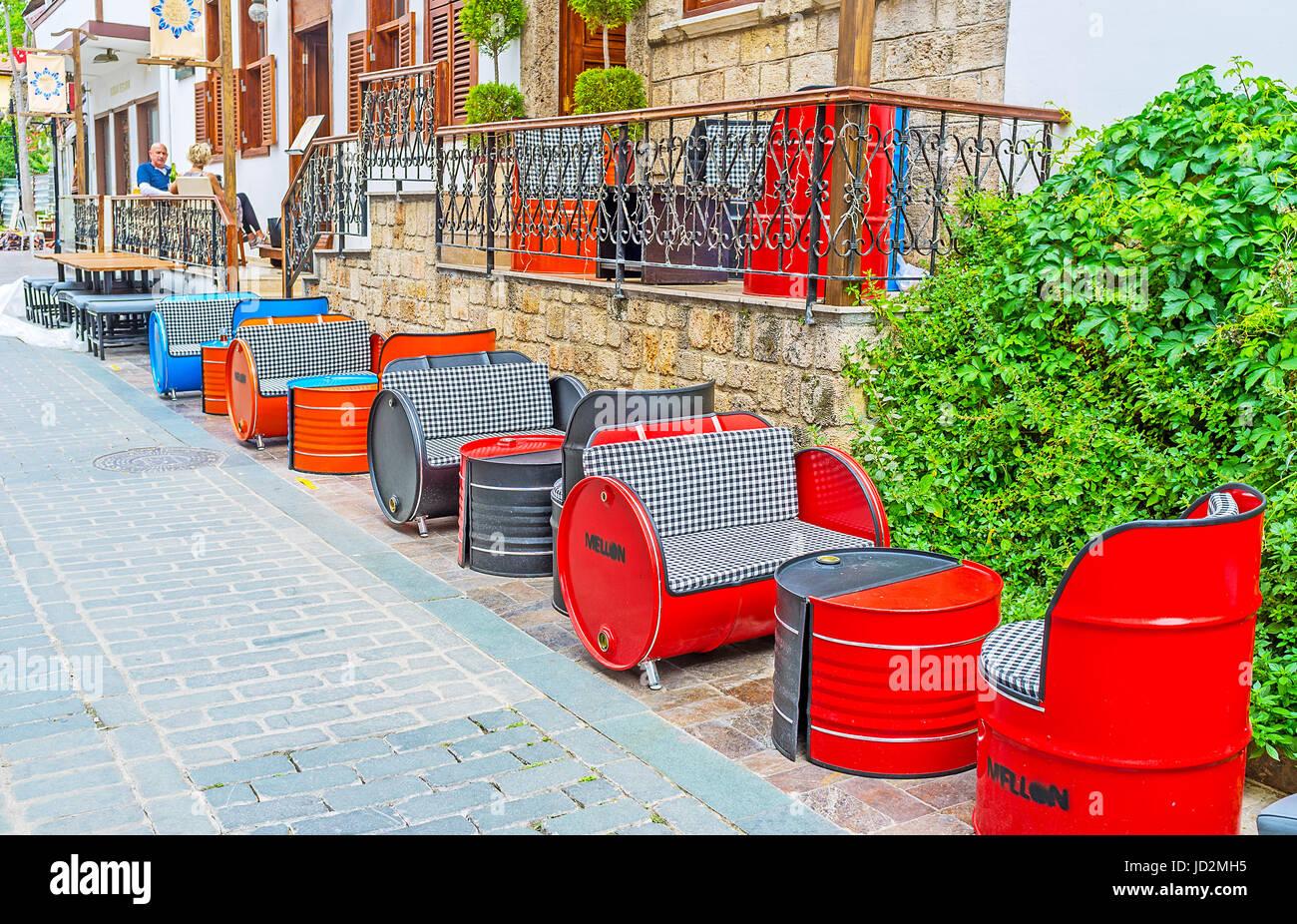 Antalya Turquía 6 De Mayo De 2017 La Terraza Exterior