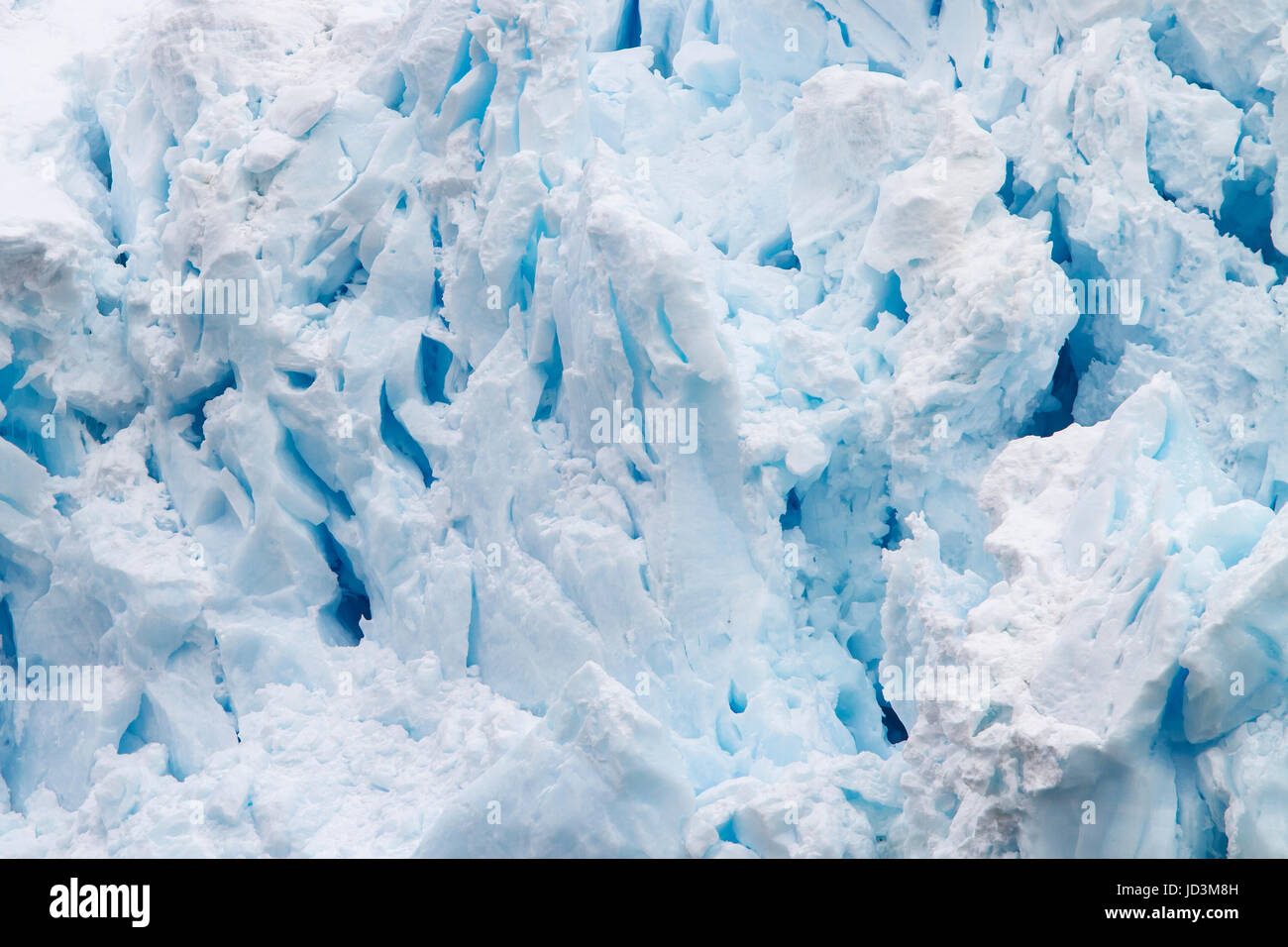 La Antártida paisaje con hielo azul Iceberg, Iceberg, icebergs. Foto de stock