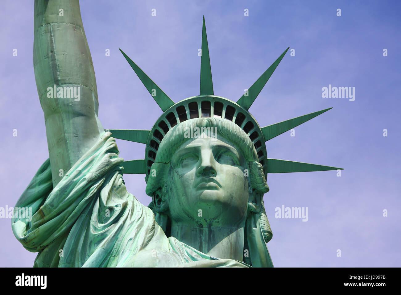 La Estatua de la libertad, de la ciudad de Nueva York, Nueva York, EE.UU. Imagen De Stock
