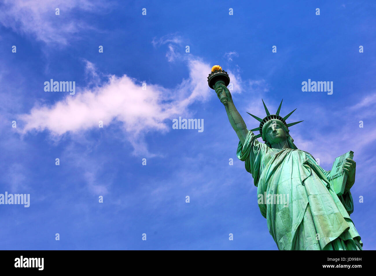 La Estatua de la libertad, de la ciudad de Nueva York, Nueva York, EE.UU. Foto de stock
