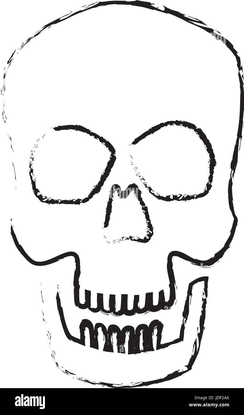 Cráneo humano masculino ciencias biología médica Ilustración del ...