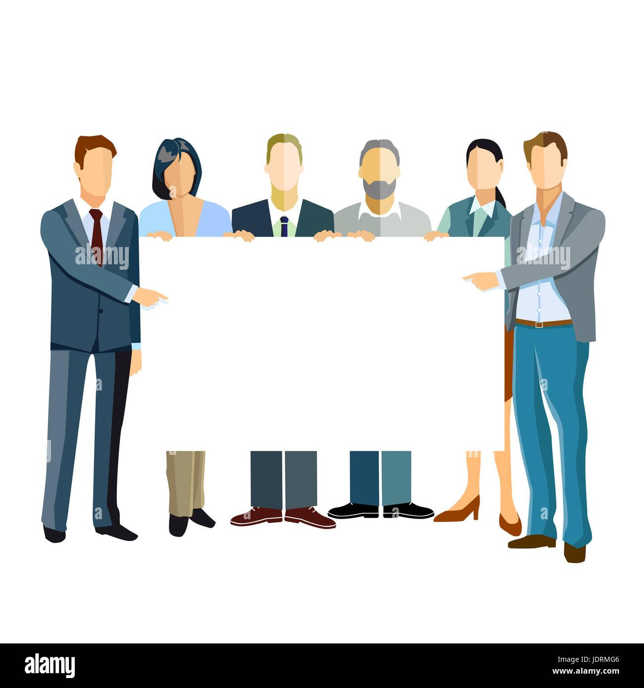 El grupo de gente de negocios presentando una plantilla Imagen De Stock
