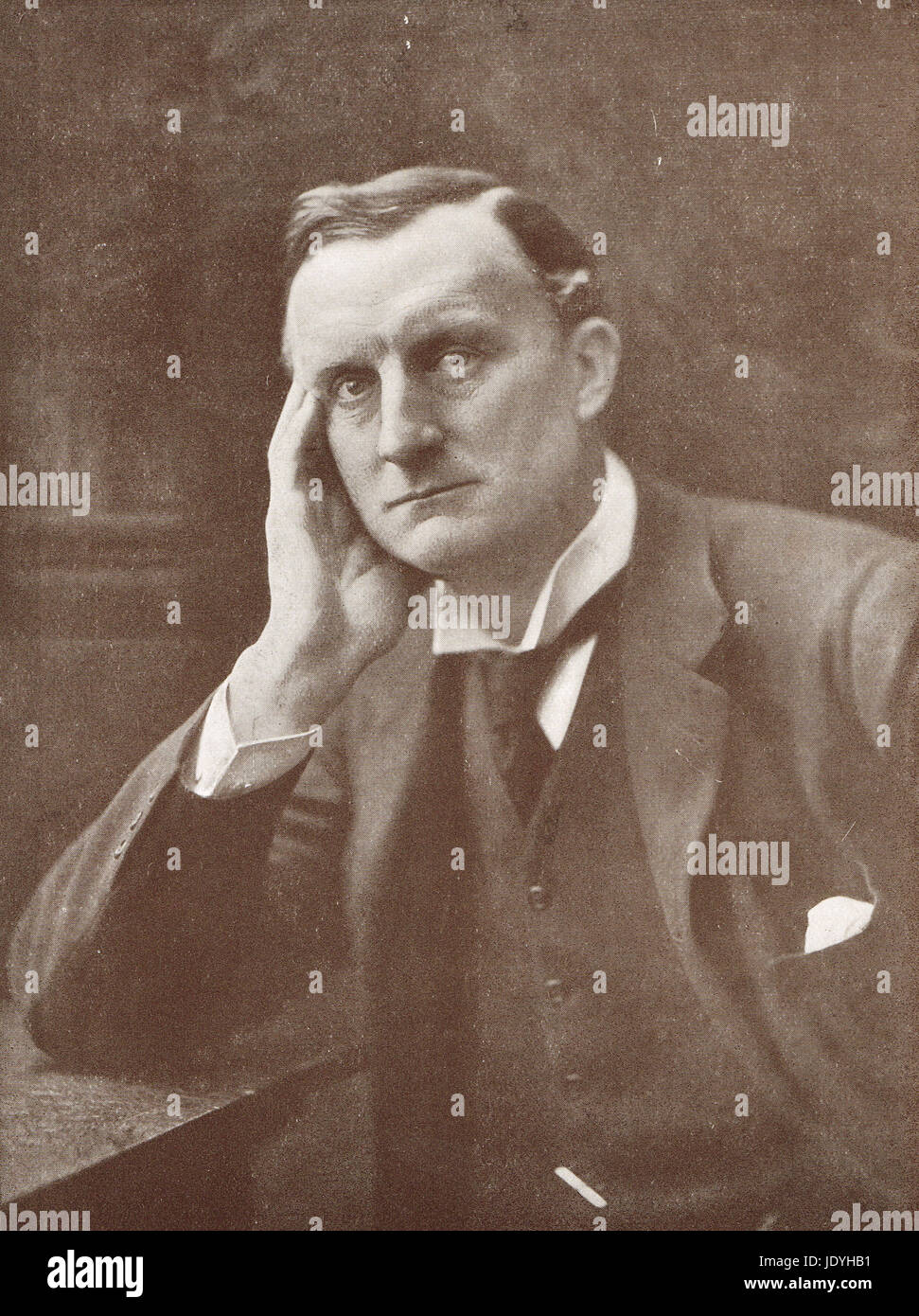 Sir Edward Grey, Secretario de Relaciones Exteriores británico 1906-16. Famoso por su observación a un Imagen De Stock