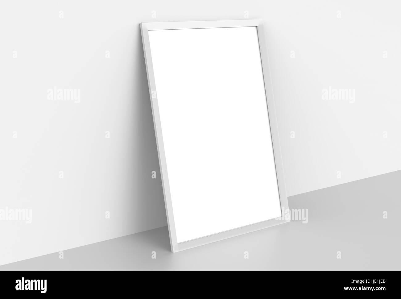 Realistic Blank Mock Up Poster Imágenes De Stock & Realistic Blank ...