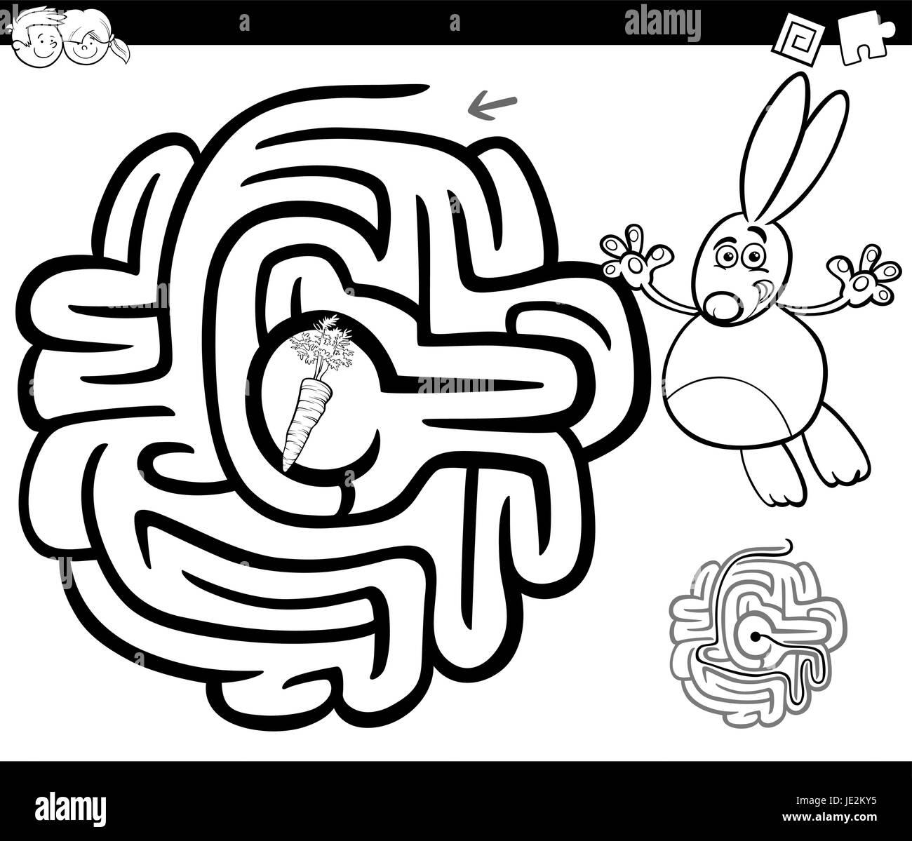 Bunny Rabbit Carrot Illustration Drawing Imágenes De Stock & Bunny ...