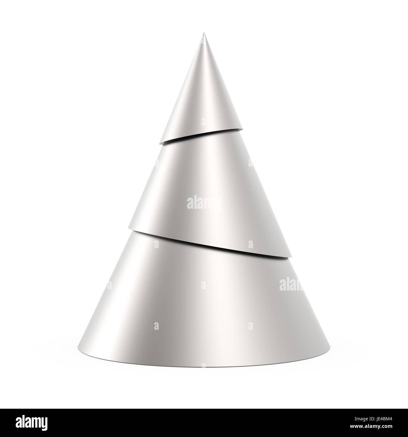 cfdc12cca09 Árbol de Navidad estilizada plata aislado sobre fondo blanco. Imagen De  Stock