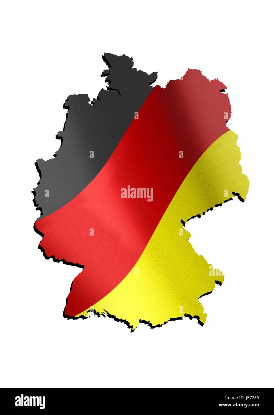 Contorno, Alemania, colores nacionales, Imagen De Stock