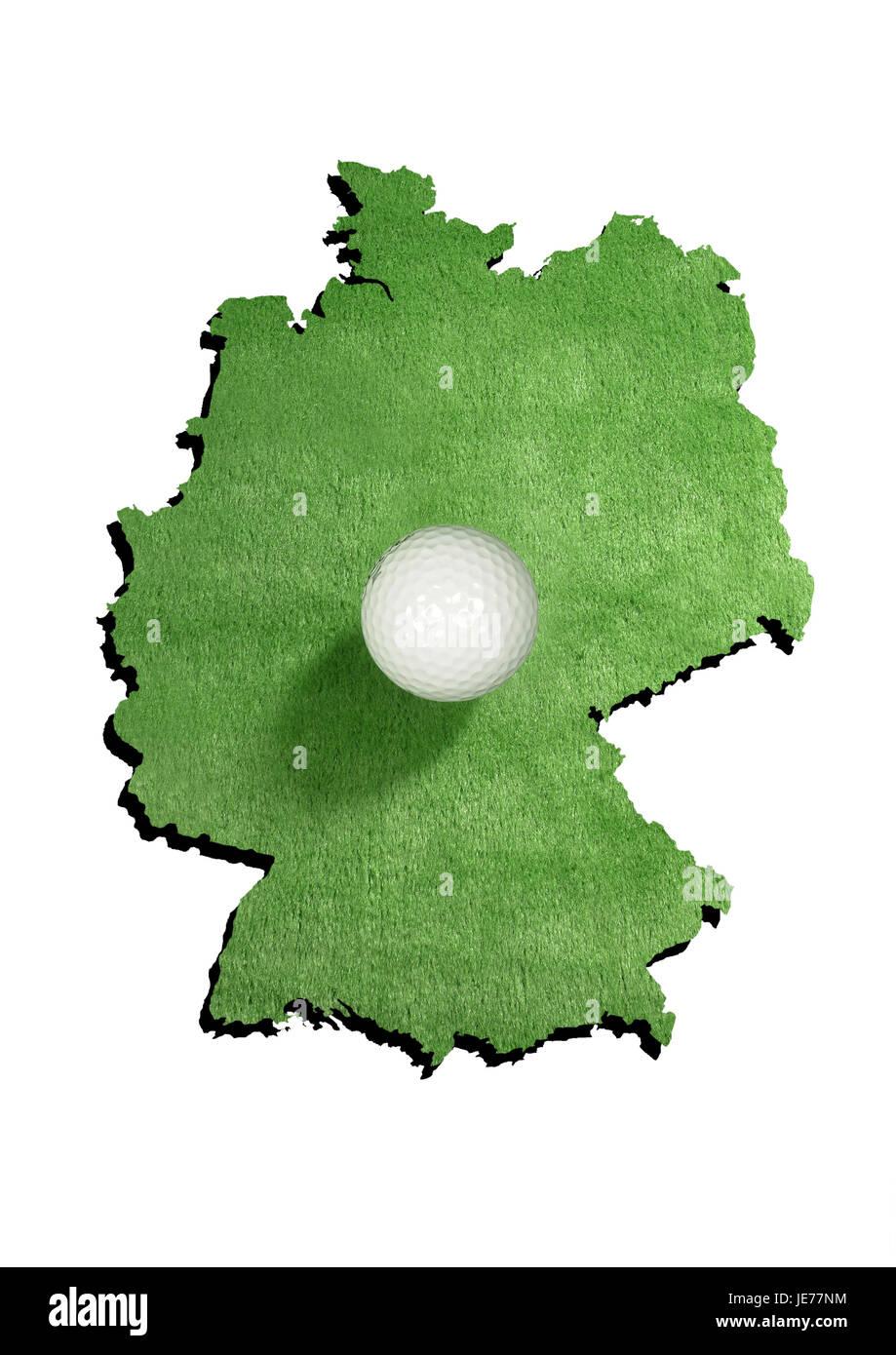 Contorno, Alemania, pelota de golf Imagen De Stock