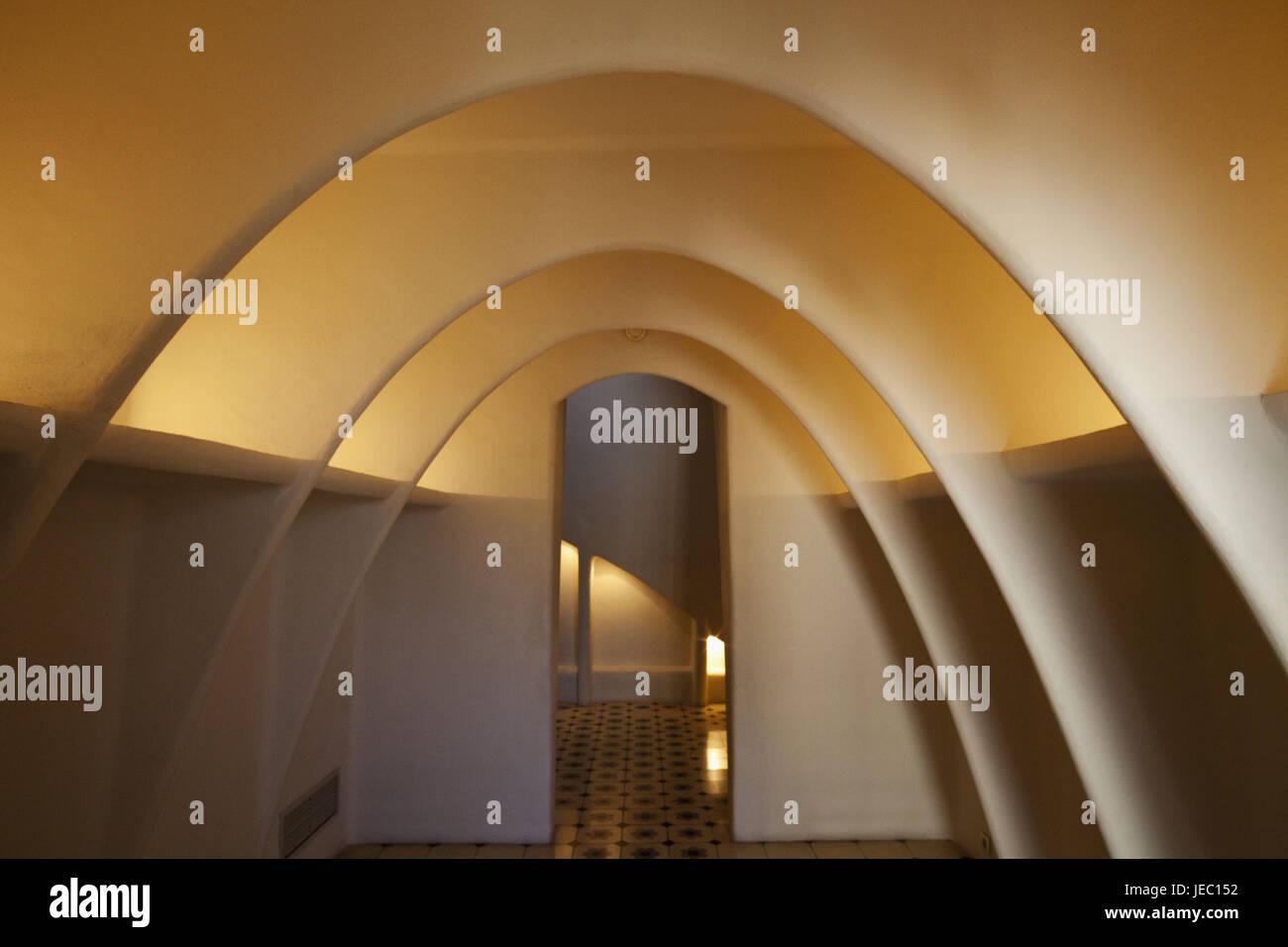 España, Barcelona, Casa Batllo, ático, Imagen De Stock