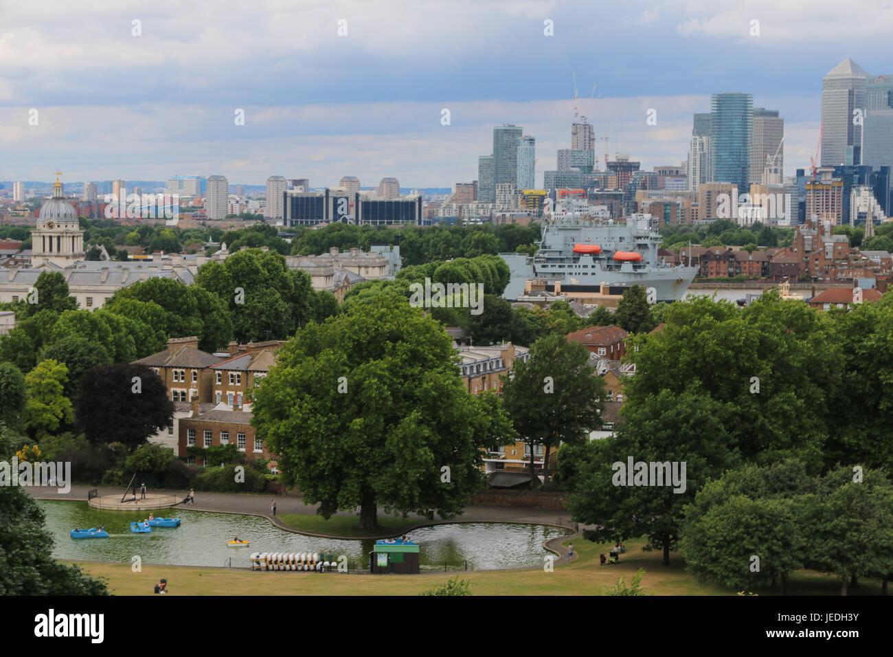 RFA Argus visitar Greenwich en Londres Foto de stock