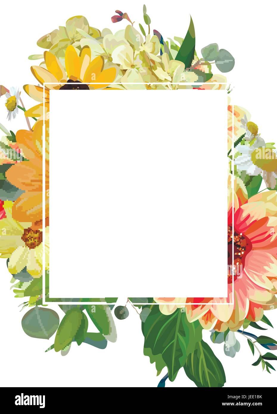 Diseño vectorial tarjeta vertical rectangular espacio de copia ...