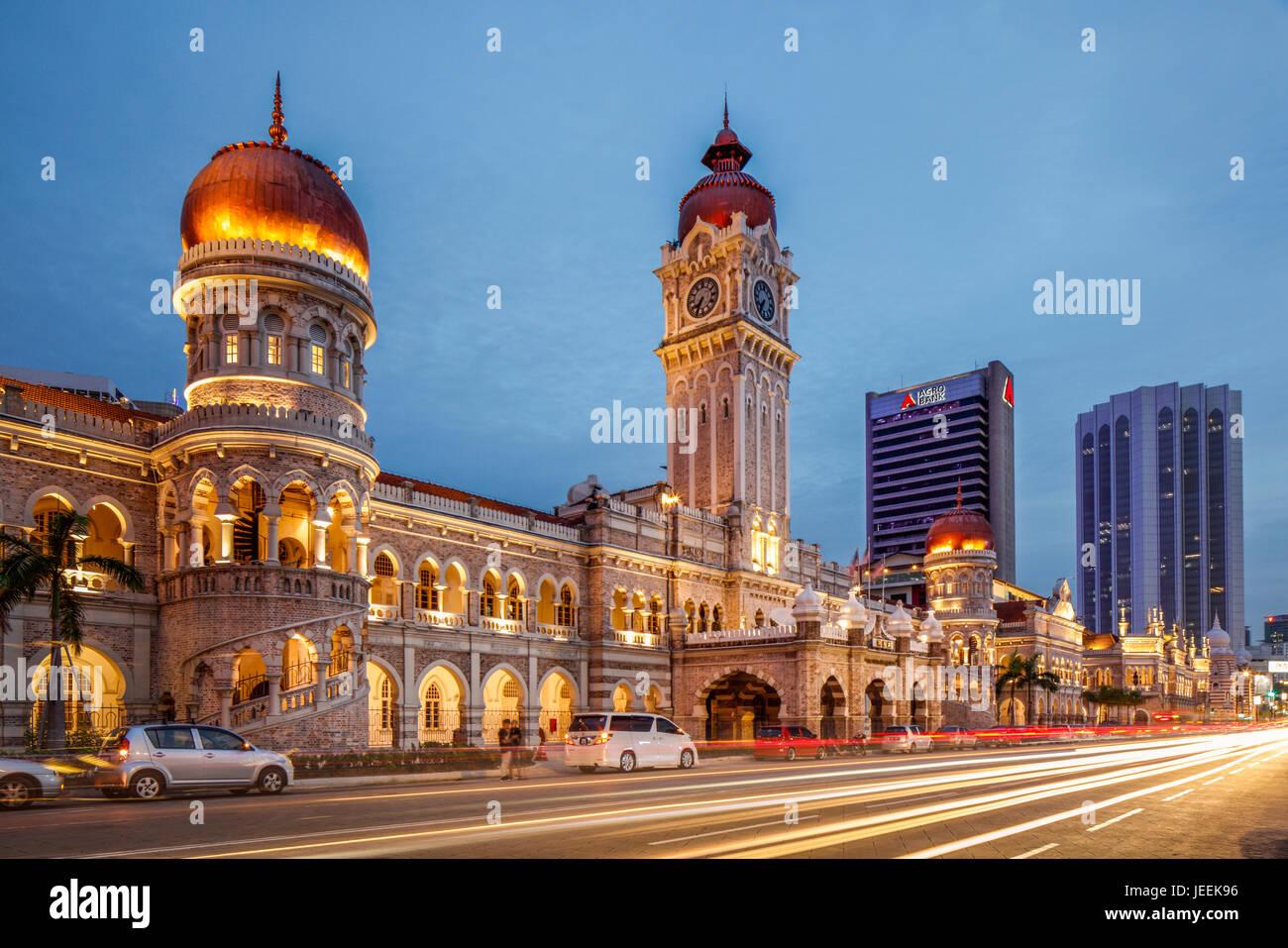El edificio Sultán Abdul Samad, Kuala Lumpur, Malasia. Imagen De Stock