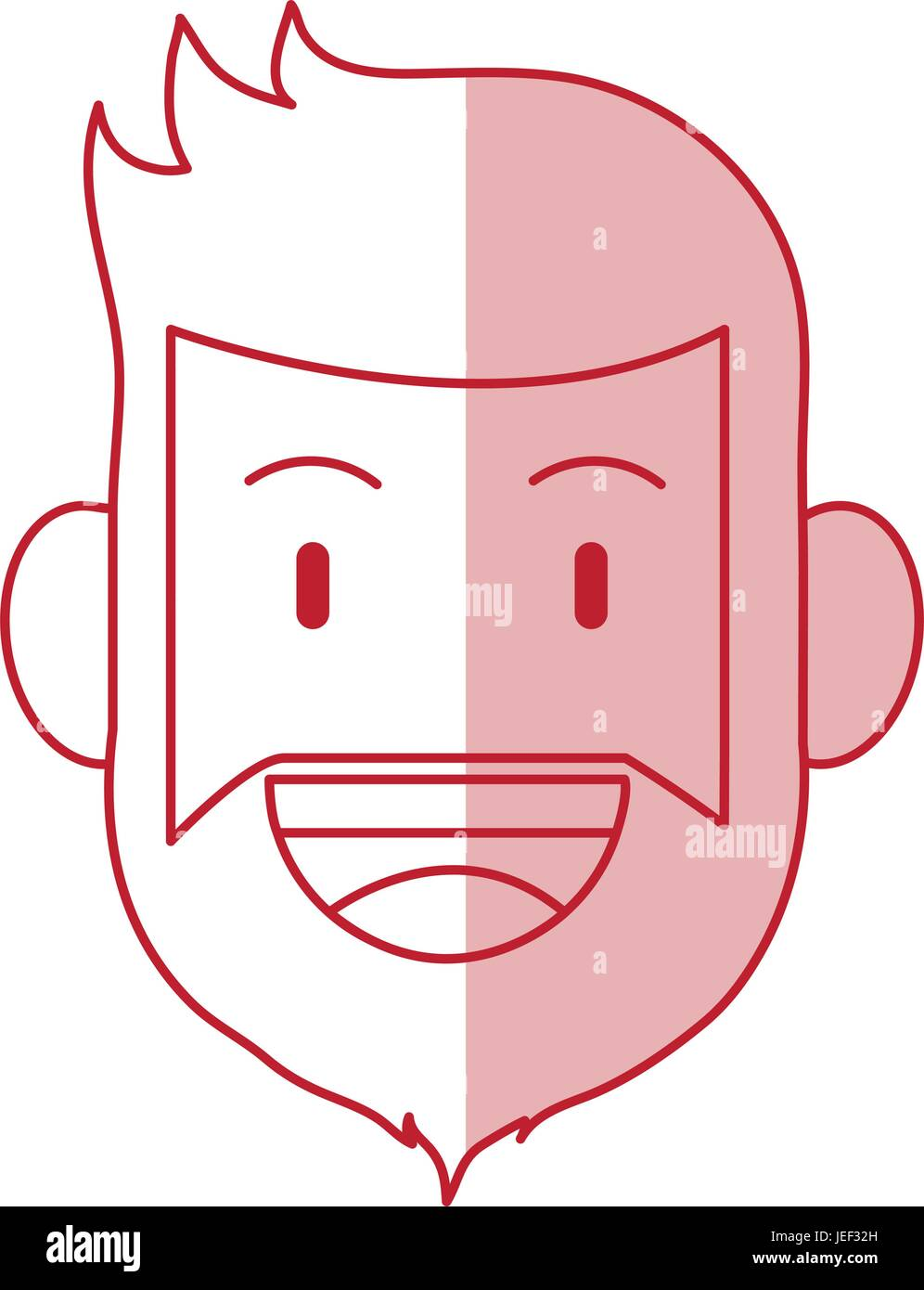 Hombre Barbado design Ilustración del Vector