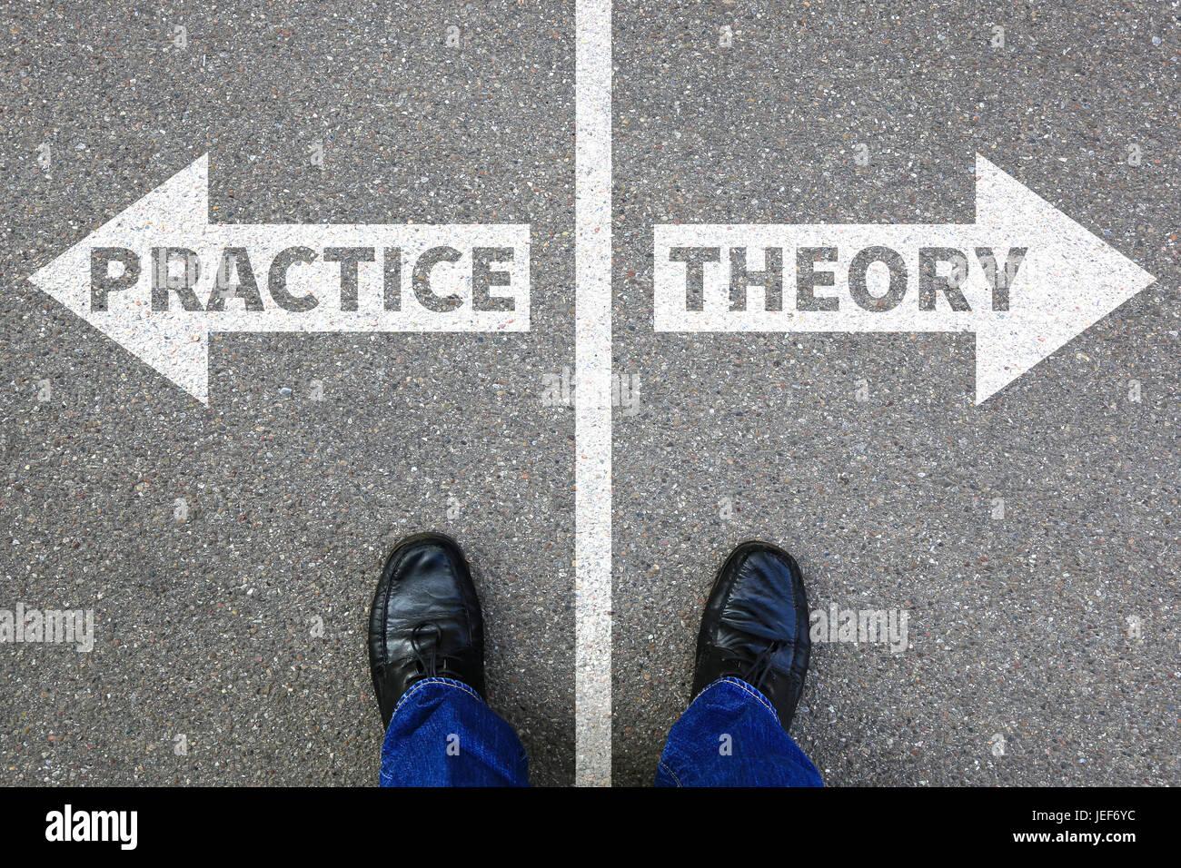 La teoría y la práctica de la profesión de enseñanza aprendizaje exitoso concepto de negocio Imagen De Stock