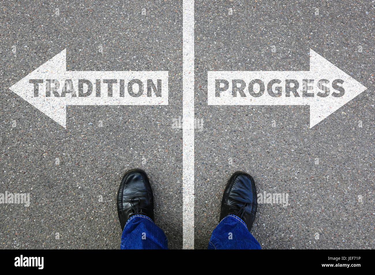 La tradición los progresos futuros análisis de evaluación de la gestión de los negocios de la Imagen De Stock