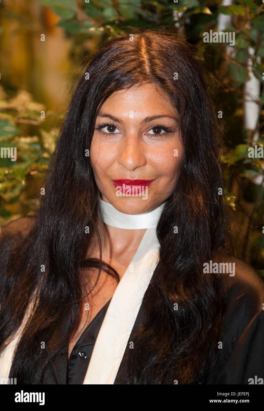 BAHAR PARS actriz sueca nacida en Irán se ha desempeñado en varias películas suecas y fue actor en la película sueca, Foto de stock