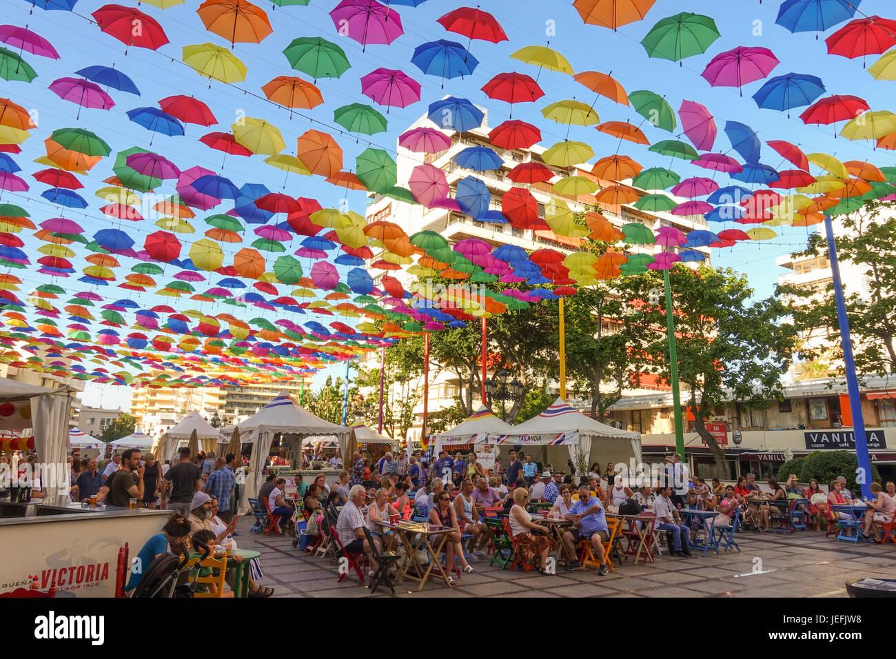 Festival de comida de diferentes culturas, Torremolinos, Málaga, Andalucía. Imagen De Stock