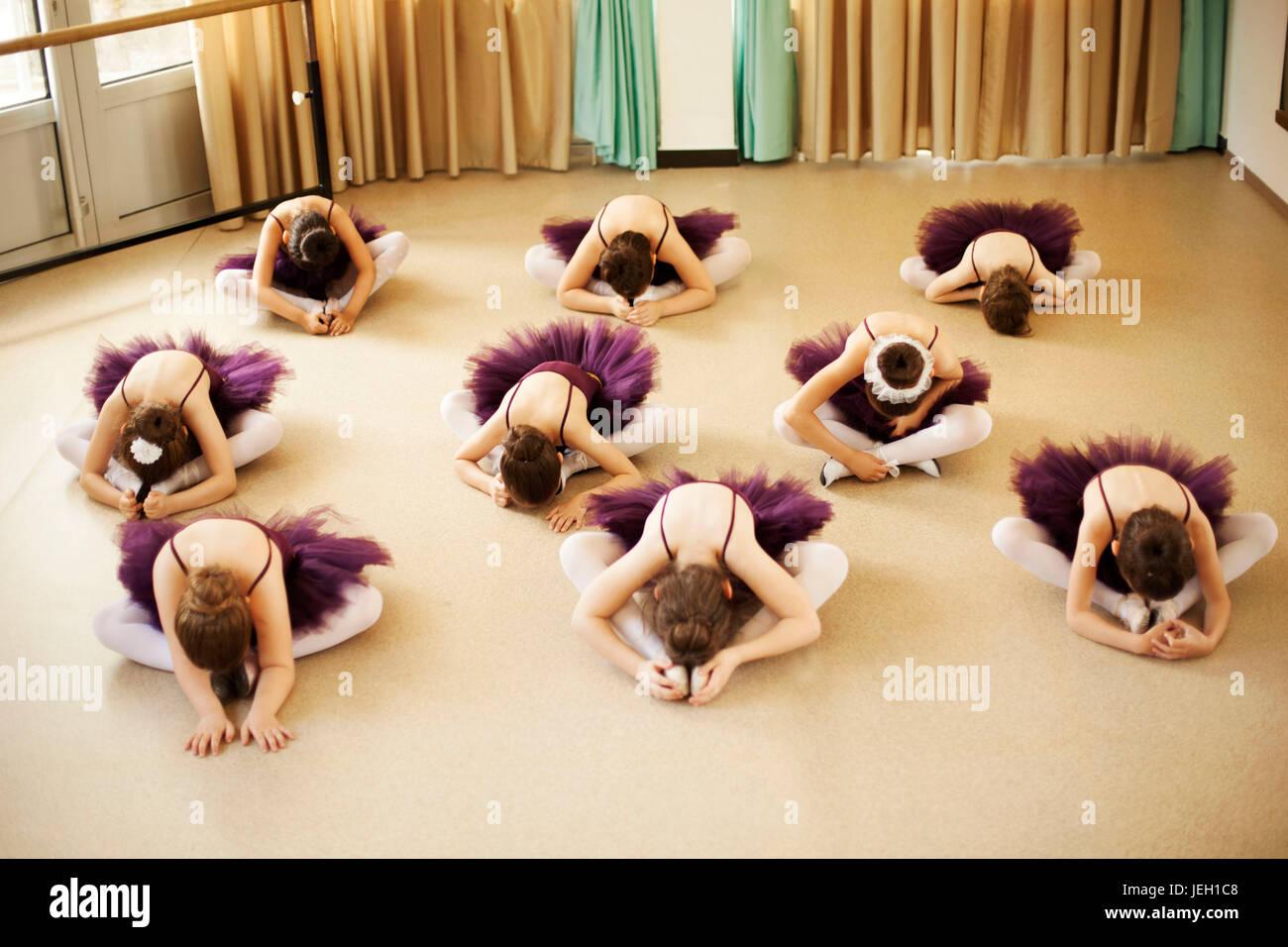 Bebé bailarinas de ballet studio Imagen De Stock