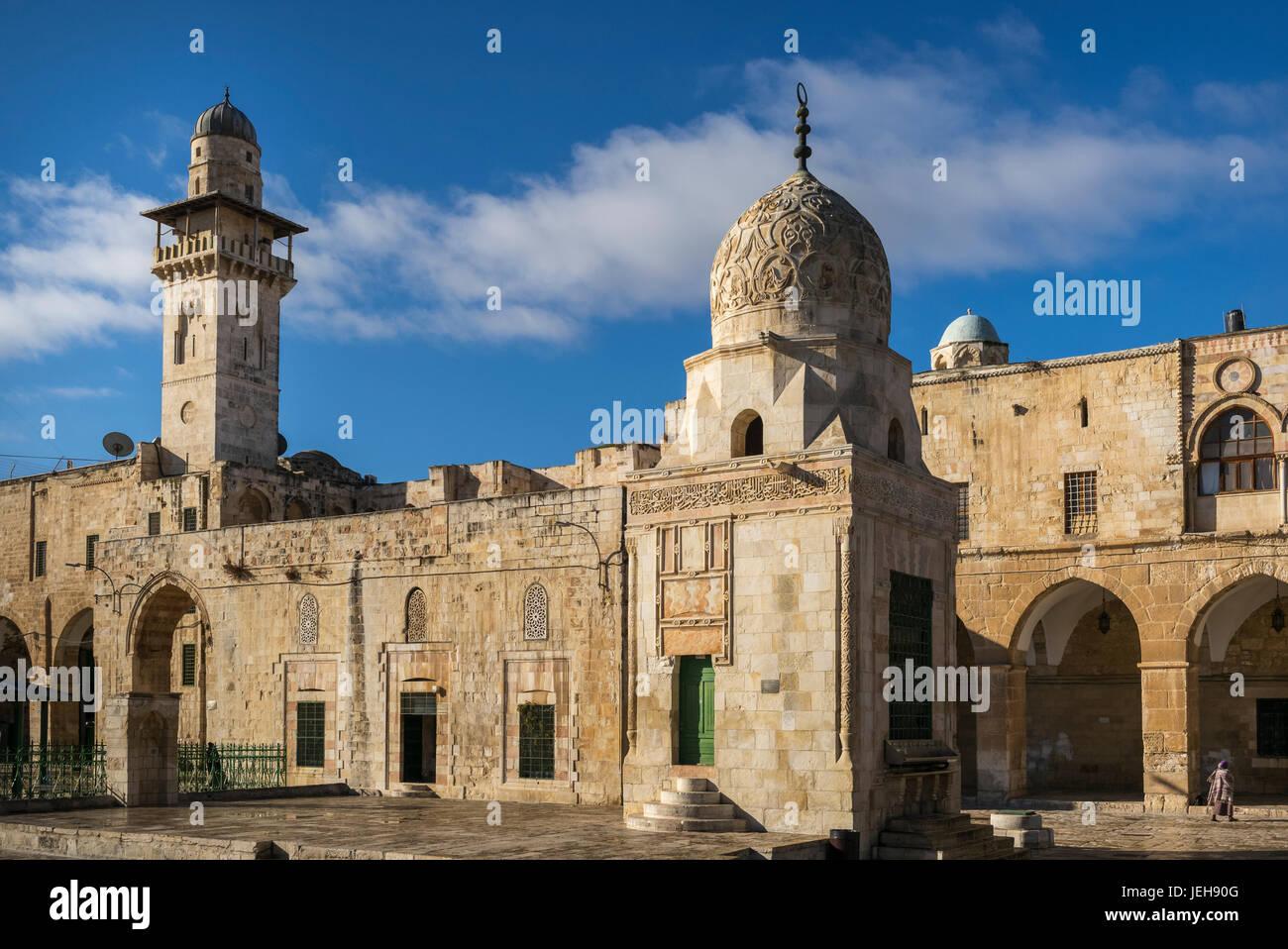 El Monte del Templo, la Ciudad Vieja de Jerusalén; Jerusalén, Israel Imagen De Stock