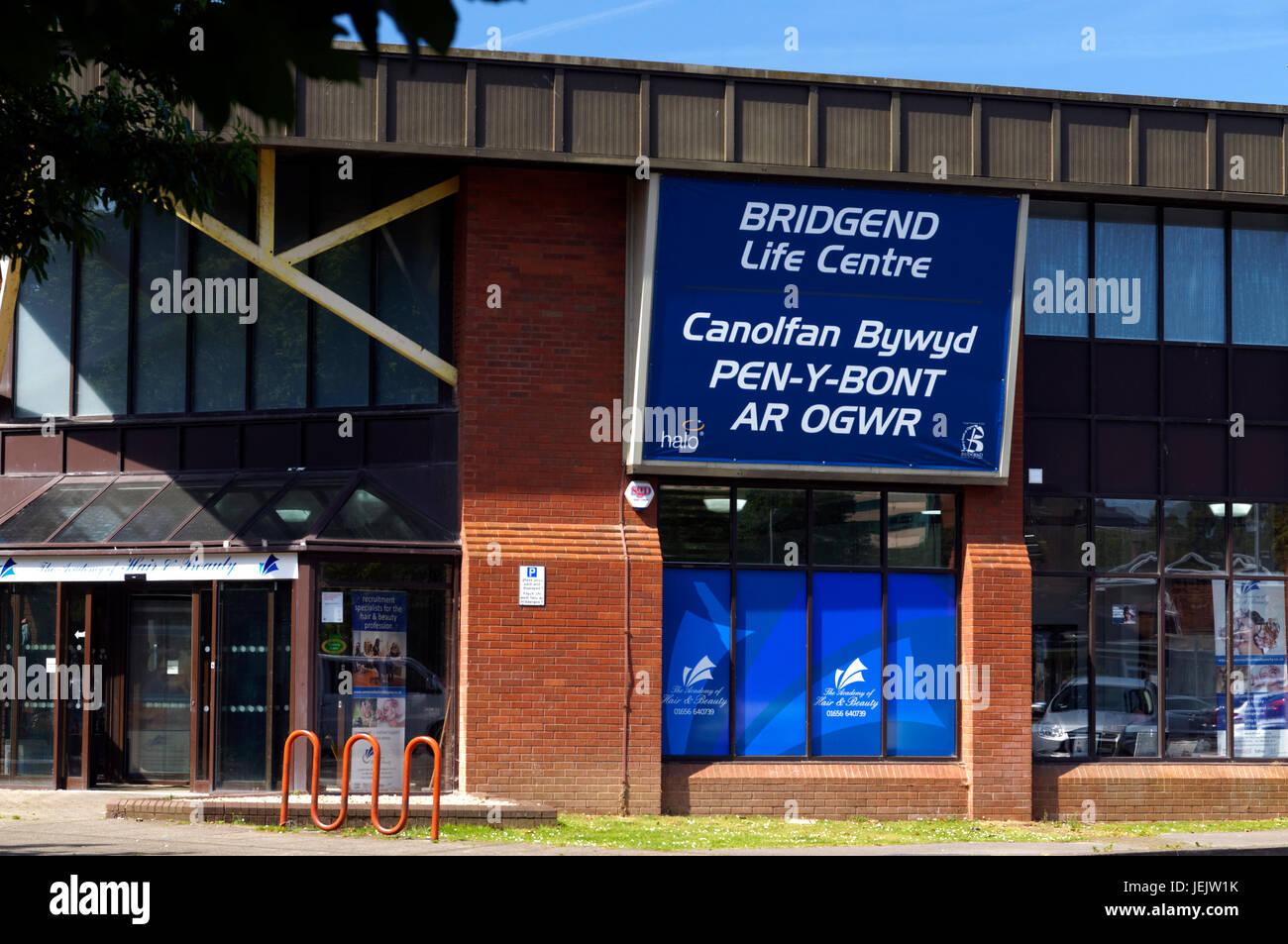 Centro de Ocio en Bridgend, Bridgend, al sur de Gales. En el Reino Unido. Imagen De Stock