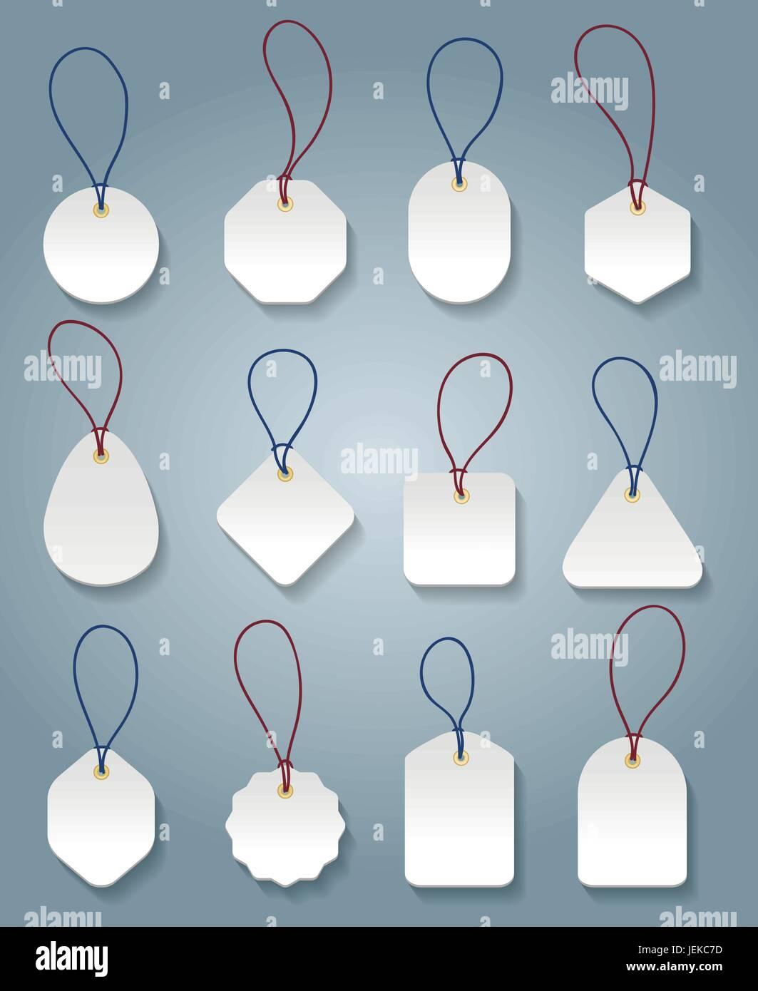 Precio blanco plantillas. Vector tags o etiquetas para precios de ...