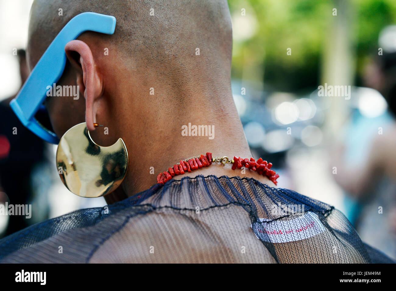 En Rick Owens, el hombre de la Semana de la moda de París 2017-2018, Palais de Tokyo, Paris 16th, Francia Foto de stock