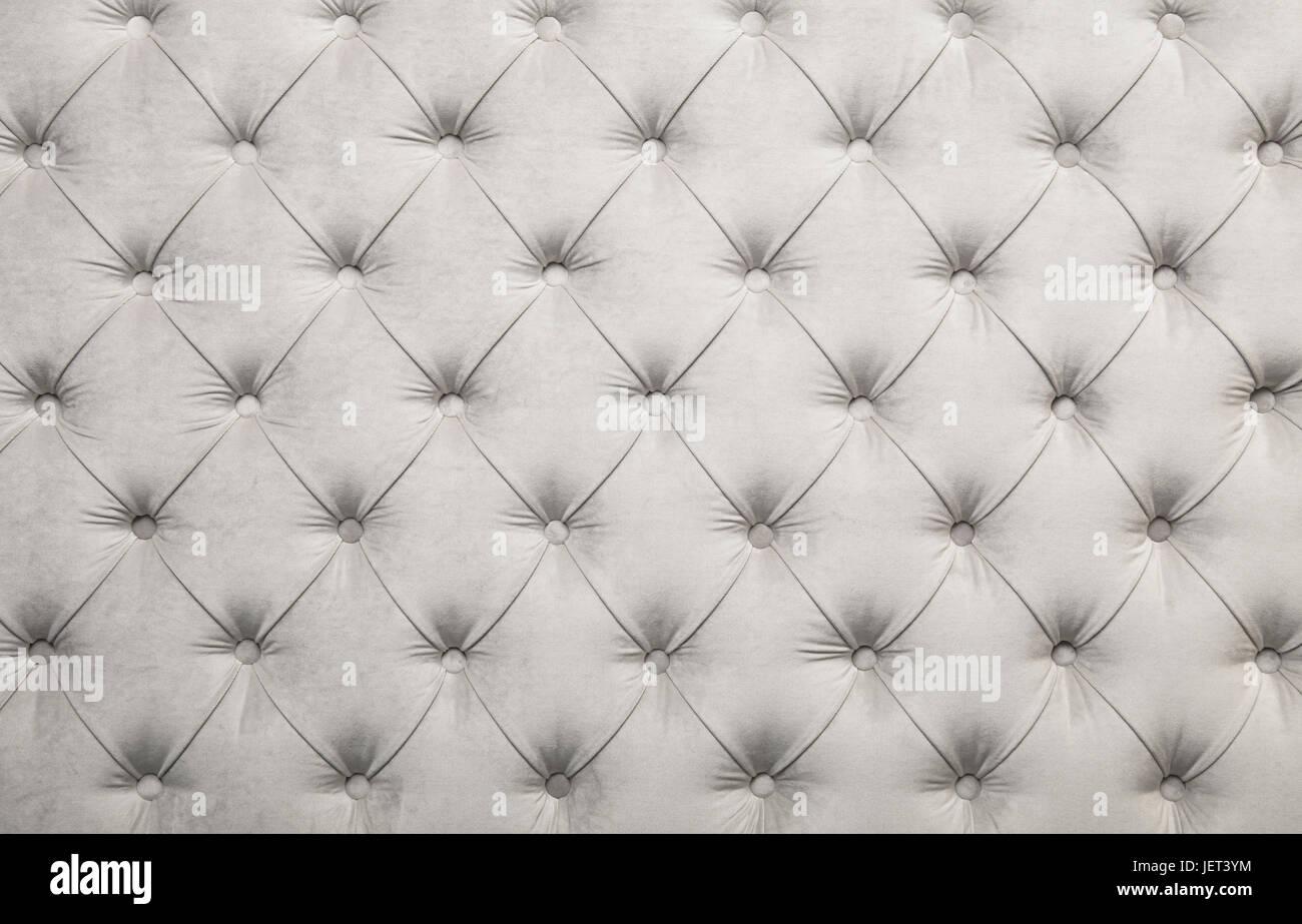Terciopelo blanco textil capitone antecedentes, retro estilo ...