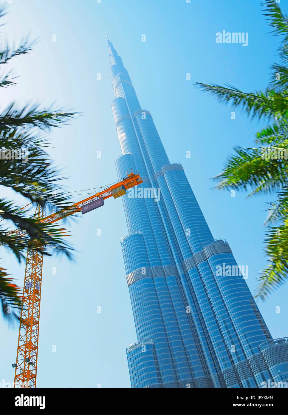 Burj Khalifa, Dubai, EAU. Foto de stock