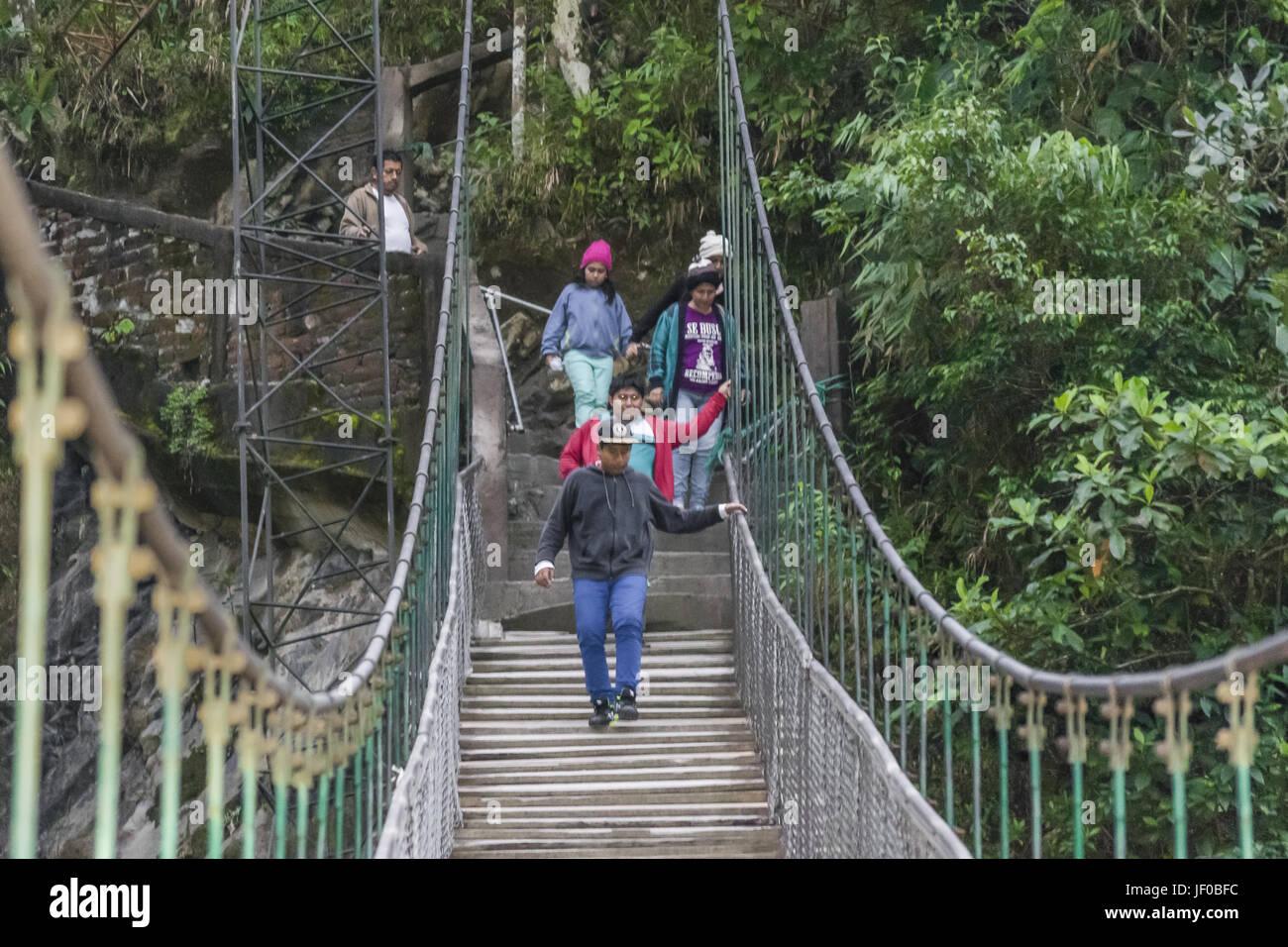Pailon del Diablo Banos Ecuador Imagen De Stock