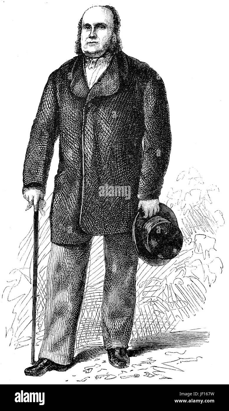Carl Freiherr von Mayer Rothschild, 1820 - 1866, fue un político y banquero judío alemán, Karl Freiherr von Mayer Rothschild, Alemania, mejor reproducción digital de una impresión original de 1888 Foto de stock
